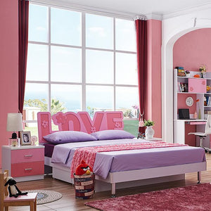HB Rooms Love Language Queen Bed (#8105) (Smaller size available)