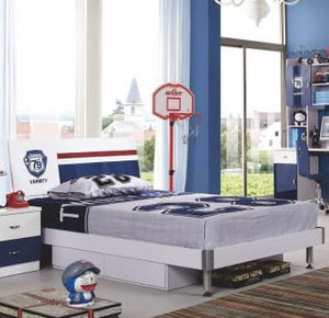 HB Rooms Team Blue Queen Size Bed (869#)