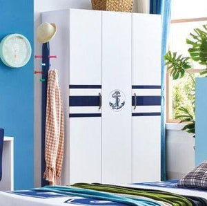 HB Rooms Navy 3 Door Wardrobe (875#)