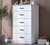 Cilek White Tall Dresser