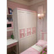 HB Rooms Pink Ribbon Solid Wood Wardrobe (612)