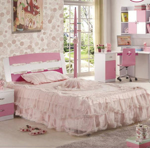 HB Rooms Pink Queen Size Bed (862#)