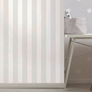Grey & White Stripes Wallpaper
