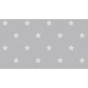 White Stars on Grey Wallpaper