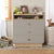 Cilek Baby Grey Dresser With Desk