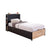 Cilek Black Bed With Base (100X200 Cm)
