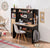 Cilek Black Narrow Study Desk With Unit