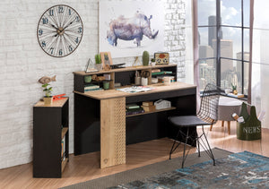Cilek Black Wide Study Desk With Unit