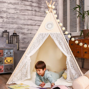 PETIT Dream Teepee With Mat and Lights