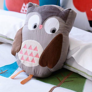 Snuggle Cute Brown Owl Cushion