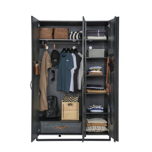 Cilek Dark Metal Large Wardrobe