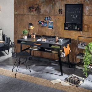 Cilek Dark Metal Study Desk