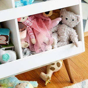 FIJN Low White Cubby with 2 Shelves