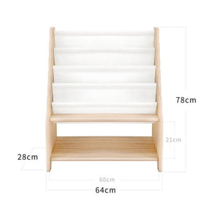 FIJN White Fabric Magazine Rack (3 sizes)