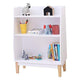 FIJN White and Wood 3 Tier Shelf