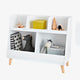 FIJN White and Wood Cubby with Top Shelf