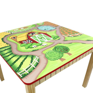 Fantasy Fields Farm Play Table w Chairs (4 Chairs)