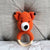 May's Hand Fox Foxy Round Rattle Crochet
