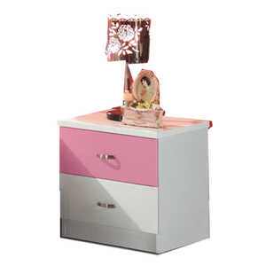 HB Rooms Pink Bedside Table (860#)