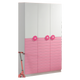 HB Rooms Pink Flowers Wardrobe (839#)