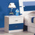 HB Rooms Sleek Blue Bedside Table (852#)