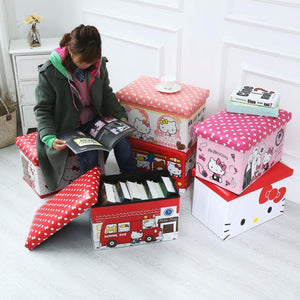 WAGEN Red Hello Kitty Storage Stool (B16)