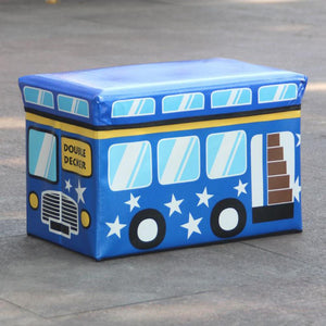 WAGEN Blue Double Decker Storage Stool (B03)