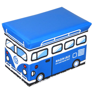 WAGEN Blue Wagon Storage Stool (A04)