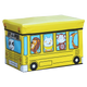 WAGEN Yellow Animal School Bus Storage Stool (B07)
