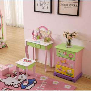 LEKEN Fairies Pink Dressing Table & Chair