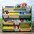 LEKEN Safari 12 Bins Toy Organiser