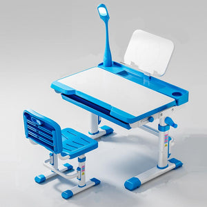 LEKEN Simple Ergo Study Table with Chair & Reading Lamp (2 Colours)