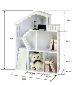 LEKEN White Dollhouse Bookshelf