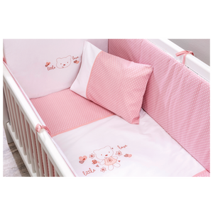 Cilek Mini Baby Bed (50X100 Cm) White - With Mattress (With Bedding Options)