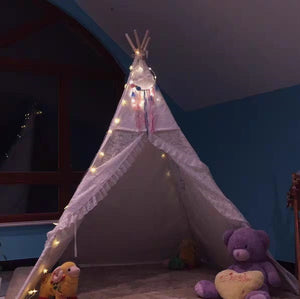 PETIT Grey Teepee With Mat and Lights