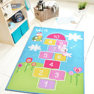 EFFEN Hare & the Tortoise Hopscotch Rug