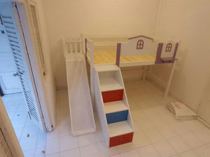 Oslo Little House Mid Loft Bed