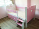 Oslo Princess Raised Bed with Ladder and 2 Drawers