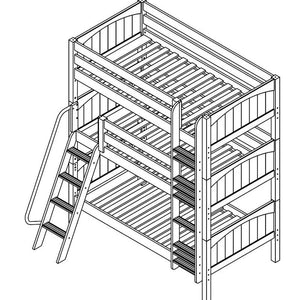Maxtrix Triple Bunk Bed w Angled/Mounted Ladder (Est. 2mths)