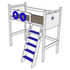 Oslo Nautical High Loft Bed