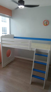 Oslo Nautical Mid Loft Bed