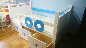 Oslo Nautical Raised Bed with Ladder and 2 Drawers