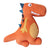 Snuggle Orange Dinosaur Cushion