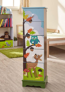 Fantasy Fields Owl 5 Drawers (91cm)