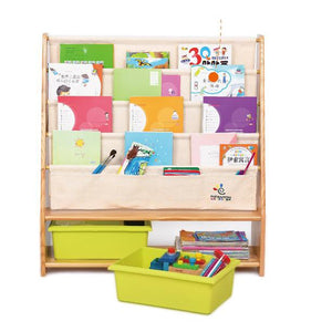 PETIT Solid Wood Magazine Rack with Toy Bins (2 Sizes)
