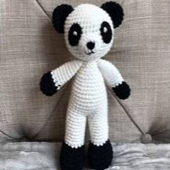 May's Hand Panda Lunar Standing Rattle Crochet