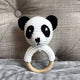 May's Hand Panda Lunar Round Rattle Crochet