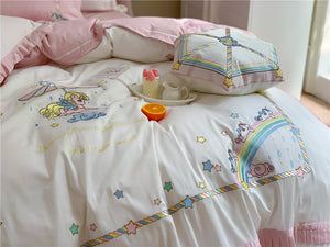 SNUGGLE Carousel Unicorns Bedsheet Set (Queen / King)