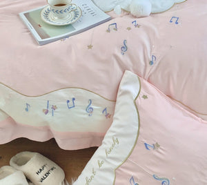 SNUGGLE Musical Rabbit Bedsheet Set (Single / SS) - Pink or Yellow