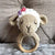 May's Hand Sheep Sheepy Round Rattle Crochet